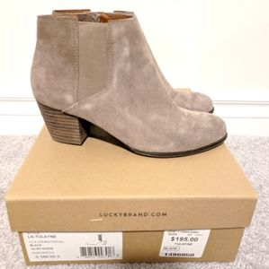 New in Box Lucky Brand Tulayne Beige Booties